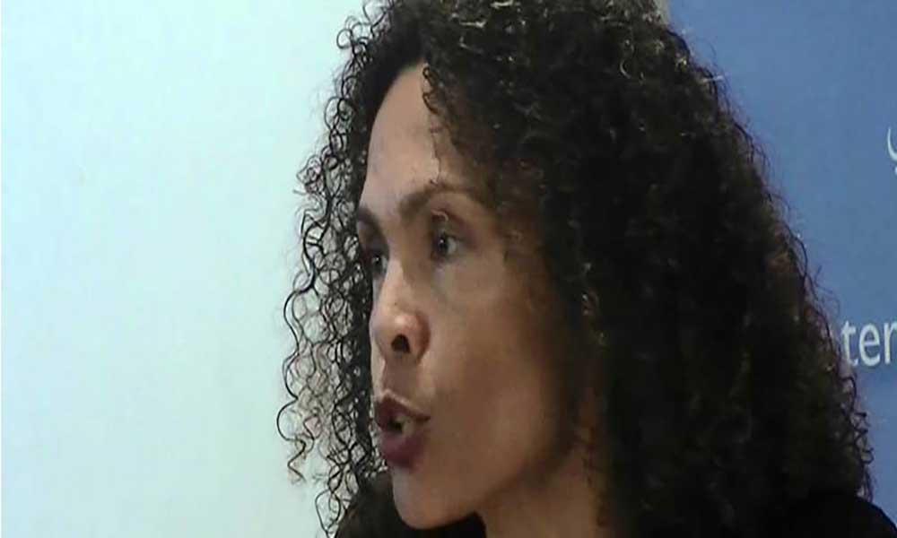 Cristina Duarte na reunião da Comissão Especializada de Finanças