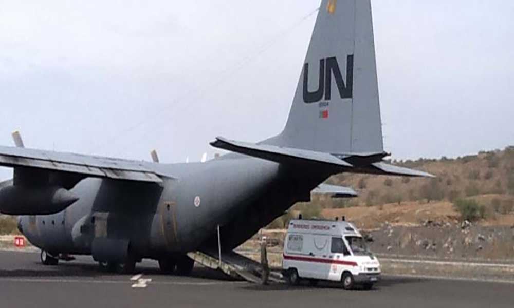 Erupção vulcânica: Ambulâncias doadas por Portugal chegam ao Fogo em avião da Força Aérea Portuguesa