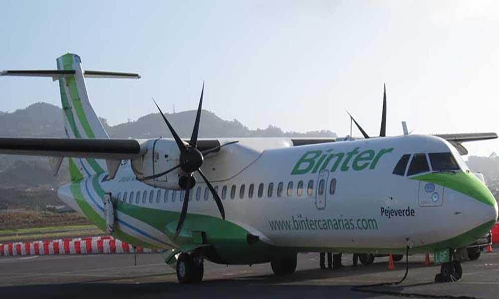Avião da Binter Canárias alugado à TACV para operar rotas domésticas inicia actividades