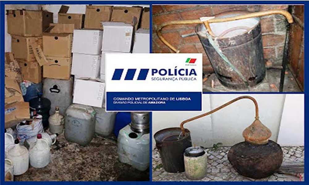 Polícia apreende 255 litros de grogue na Amadora
