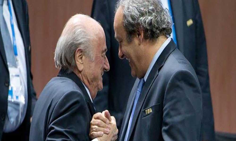 Platini e Blatter suspensos por oito anos