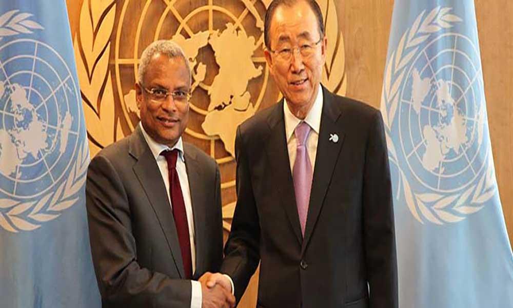 PM reúne-se com Ban Ki-moon