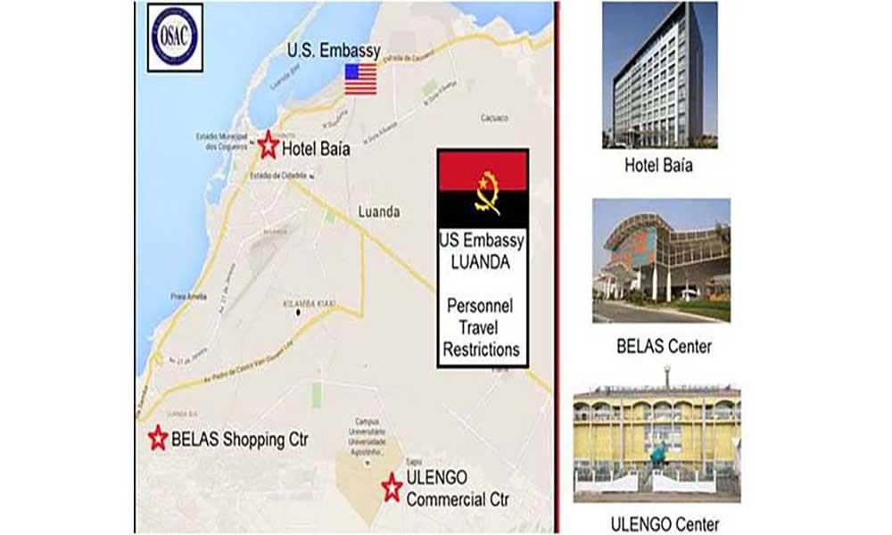 EUA emitem alerta de «potencial ameaça de segurança» em Luanda