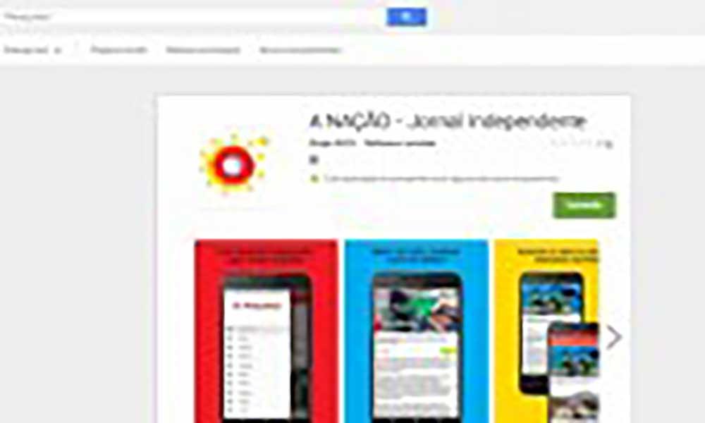 Jornal A Nação online já dispõe de versão móvel para Android