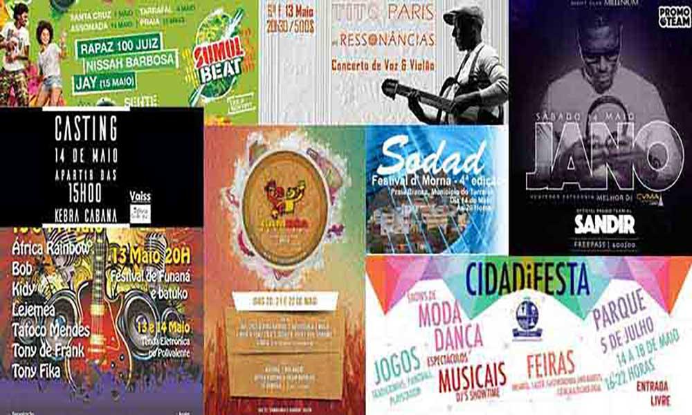 Agenda Cultural de 13 a 22 de Maio
