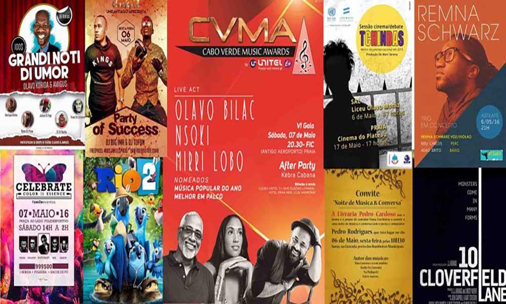 Agenda Cultural de 06 a 08 de Maio