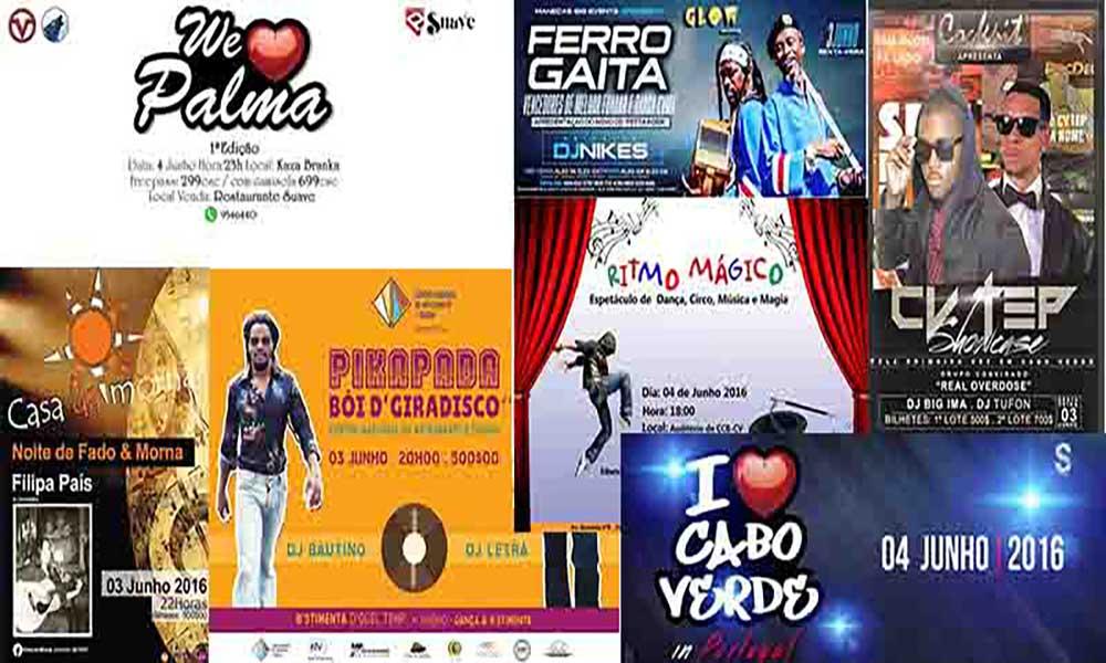 Agenda Cultural de 03  a 08 de Junho