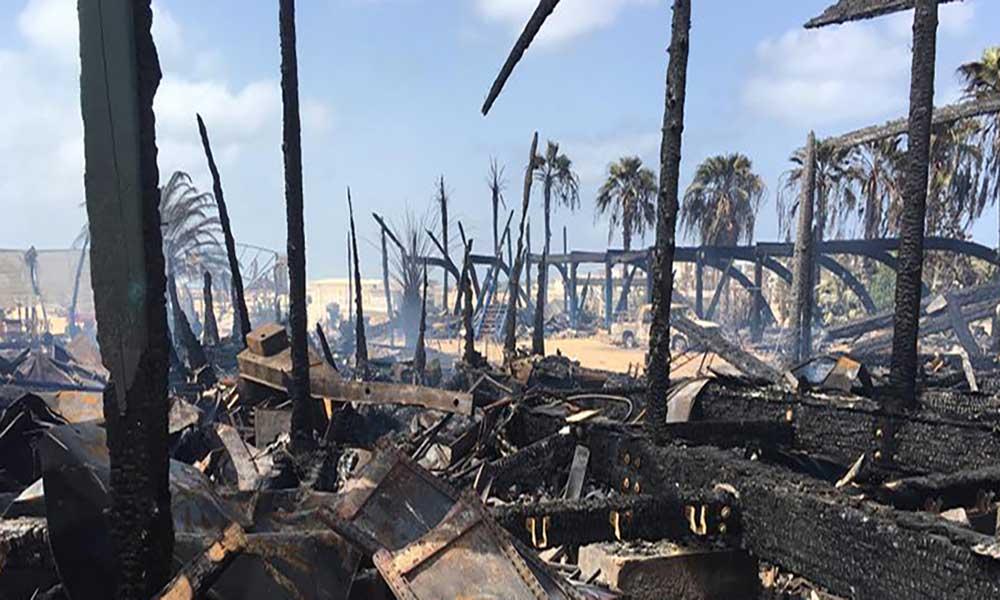 Sal: Restaurante Atlantis consumido pelas chamas