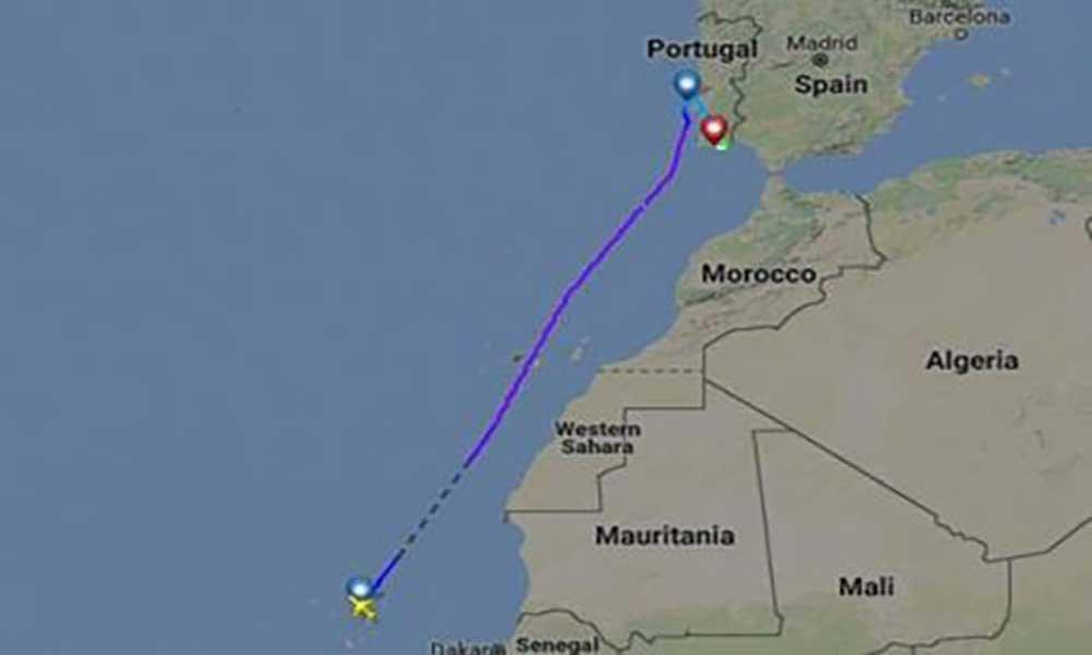 Voo da TACV para Lisboa desviado para Faro
