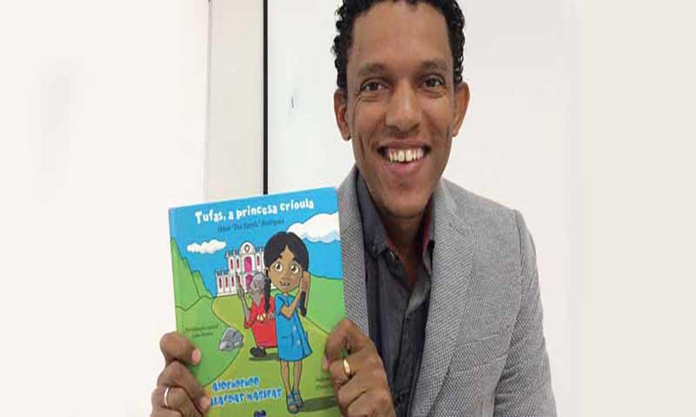 """Dai Varela apresenta livros da coleção """"Tufas, a Princesa Criola"""" na Praia"""