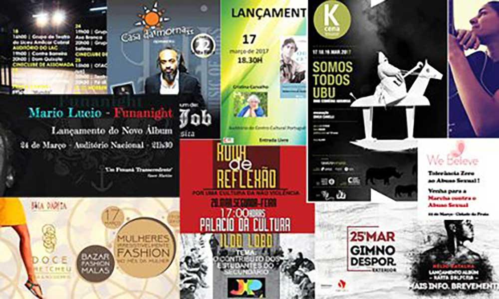 Agenda Cultural de 16 a 22 de Março