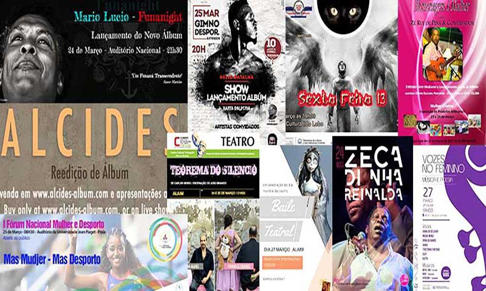 Agenda Cultural de 23 a 29 de Março