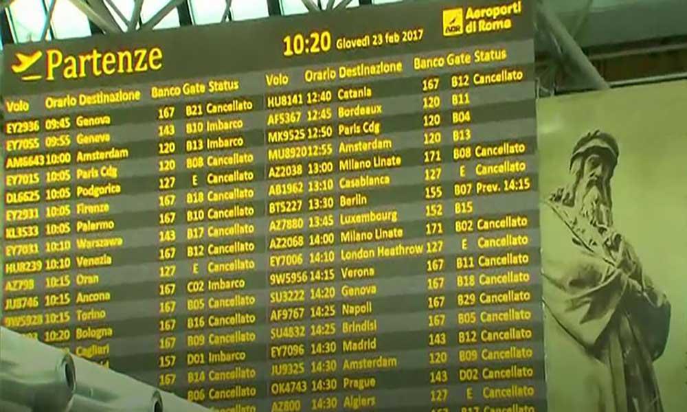 Itália: Greve dos trabalhadores perturba tráfego aéreo