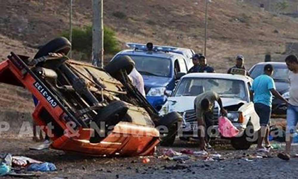 São Vicente: quatro feridos graves num acidente de viação