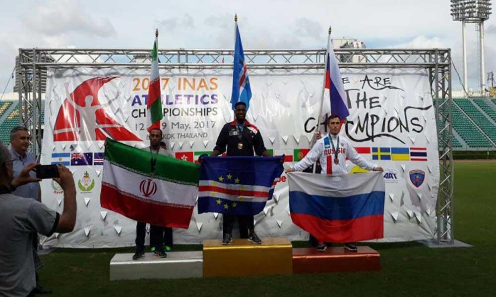 Atletismo: Gracelino Barbosa conquista ouro nos 100 metros do campeonato do mundo