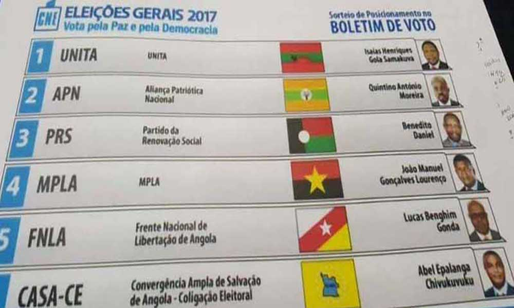 Angola: UNITA volta a ser primeira no boletim de voto das eleições de Agosto