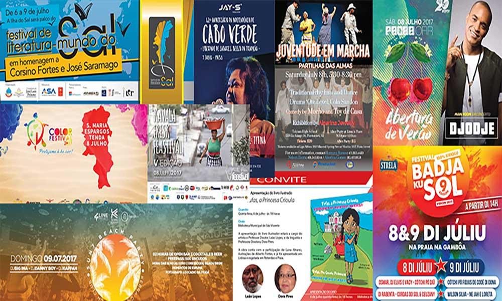 Agenda cultural de 06 Julho a 12 de Julho de 2017