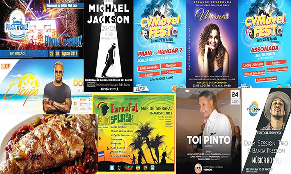 Agenda cultural de 25 a 31 de Agosto de 2017