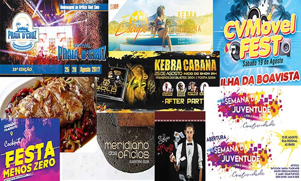 Agenda cultural de 17 a 23 de Agosto de 2017