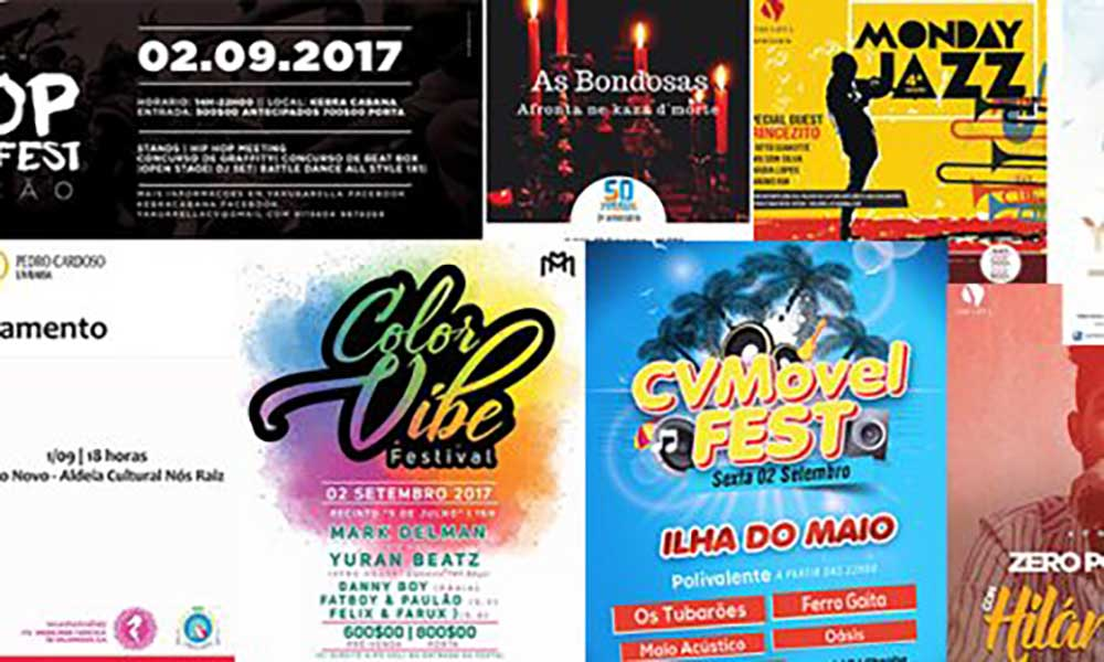 Agenda cultural de 01 a 07 de Setembro de 2017