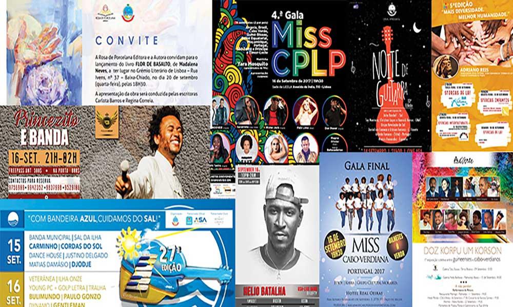 Agenda cultural de 16 a 22 de Setembro de 2017