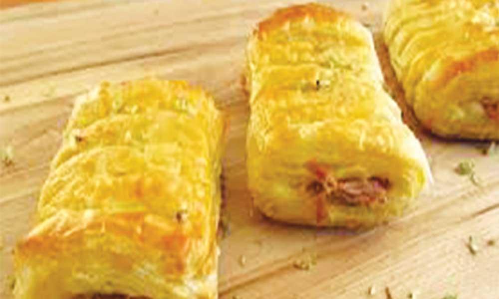 Folhadinhos de queijo com pevides