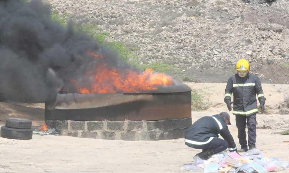 PJ incinera os 1.157 quilos de cocaína apreendidos em São Vicente (com fotos)