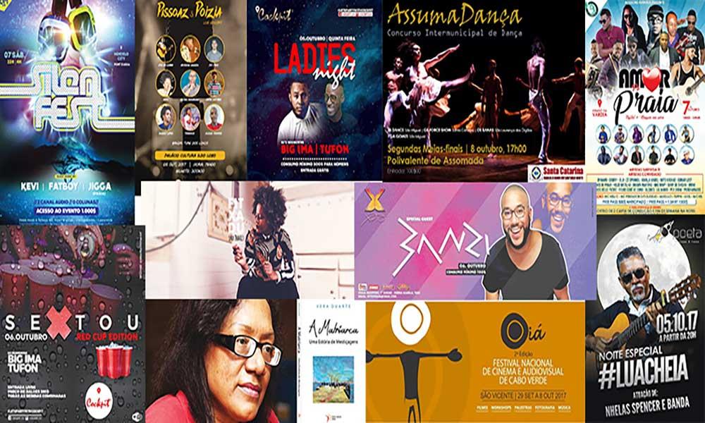 Agenda cultural de 6 a 11 de Outubro de 2017
