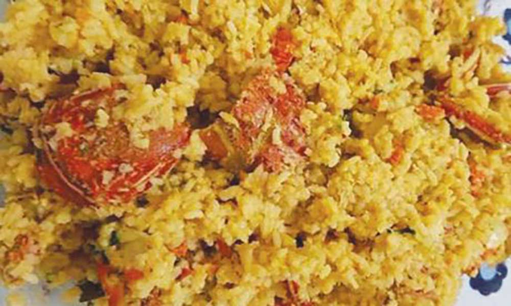 Arroz de lagosta (Fonte: Nham Nham – Sabores de Cabo Verde)