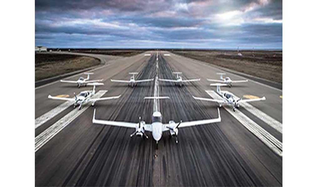 Diamond Aircraft faz demonstrações técnicas das aeronaves DA42 e DA62 MPP