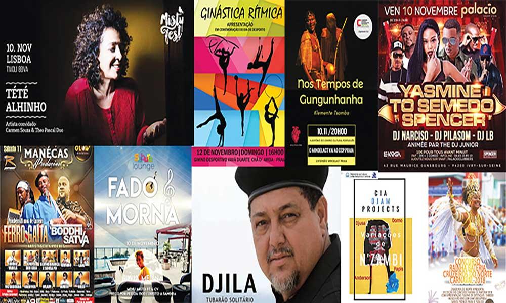Agenda cultural de 10 a 16 de Novembro de 2017