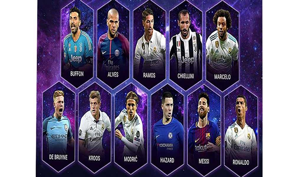 Cristiano Ronaldo na equipa do ano da UEFA