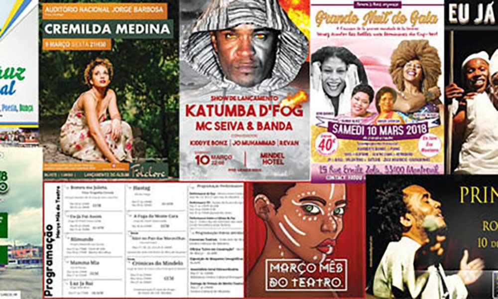 Agenda cultural de 9 a 15 de Março de 2018