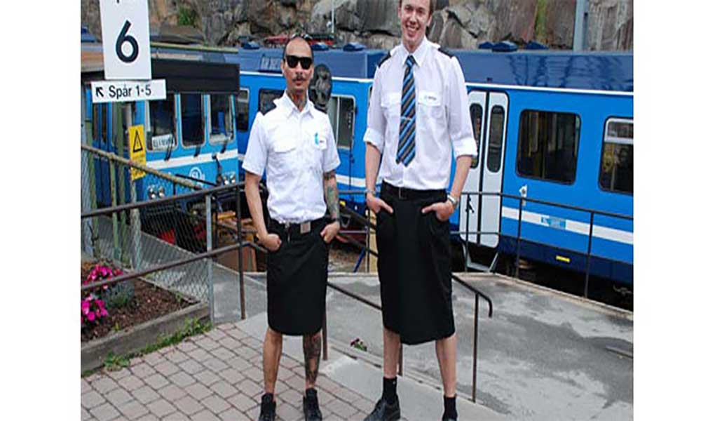 Suécia: Maquinistas vestem saias para driblarem proibição de uso de calções