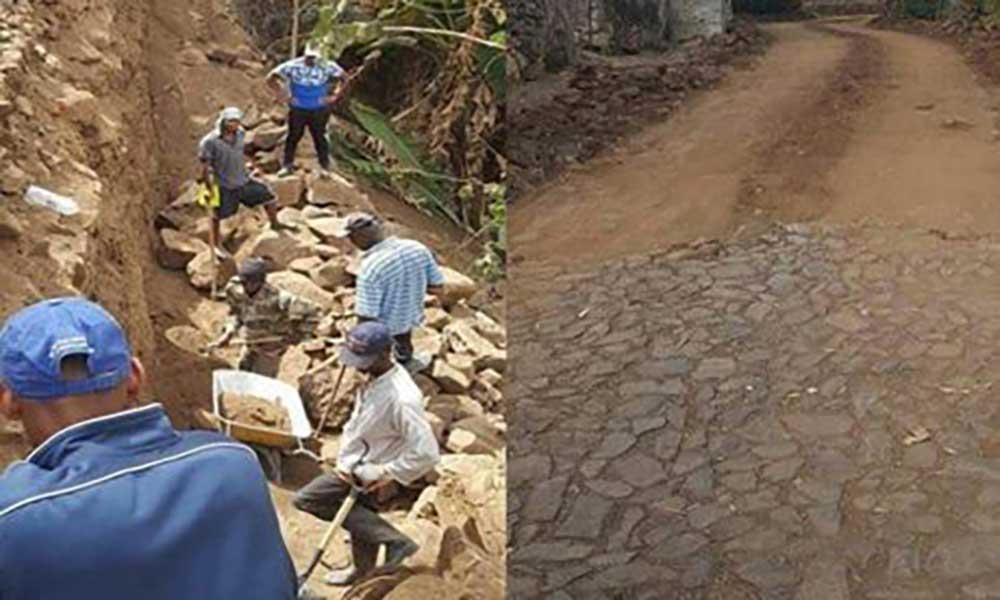 Pico Antónia- Órgãos com estrada de acesso requalificada