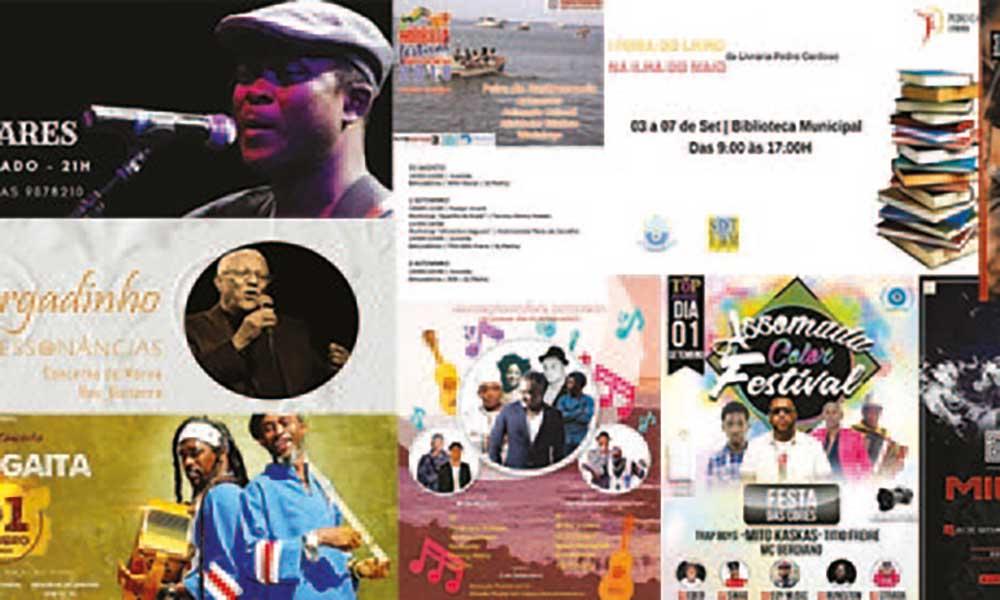 Agenda cultural de 31 de Agosto a 06 de Setembro de 2018