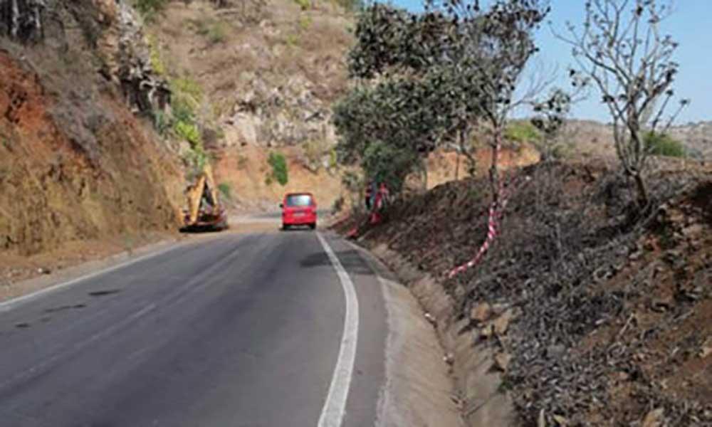 Santa Catarina: Empreiteiro alerta para perigo de nova derrocada na estrada que liga Assomada/Calheta
