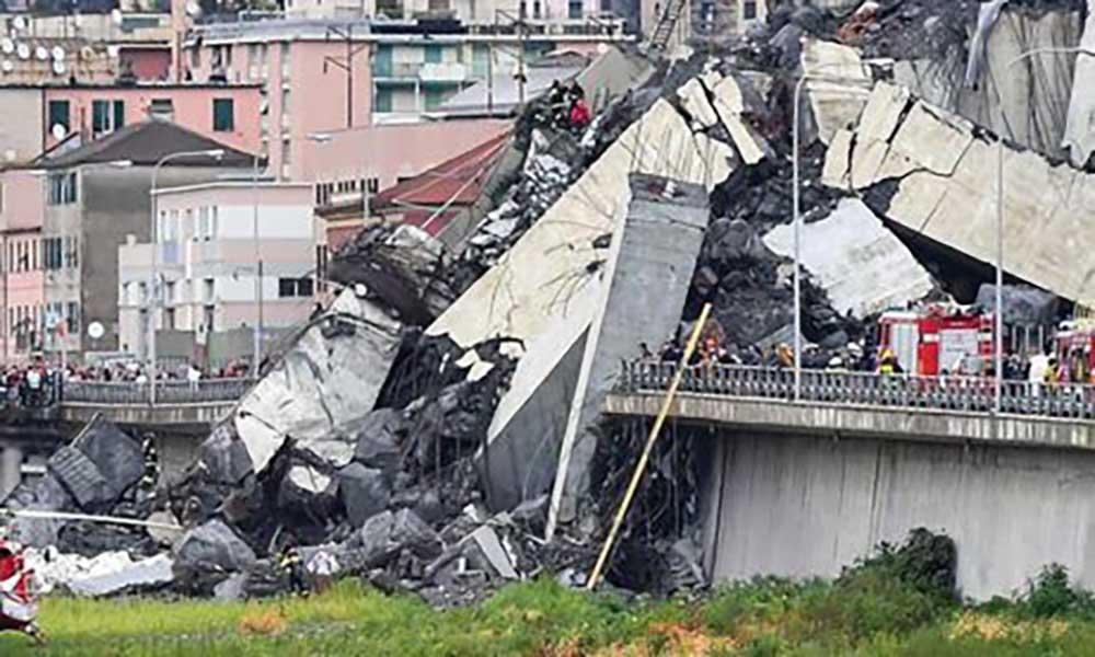 Itália: Limpeza dos destroços da Ponte de Génova suspensa por precaução