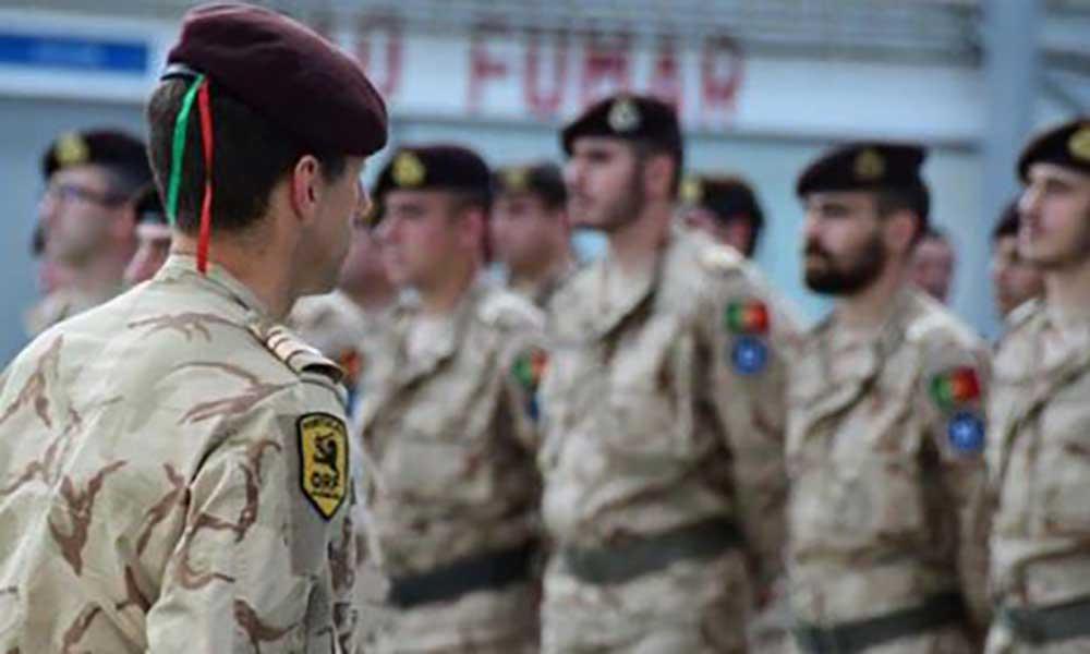 Portugueses formammilitares iraquianos
