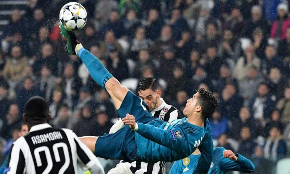 Pontapé de bicicleta de Cristiano Ronaldo eleito o melhor golo da época