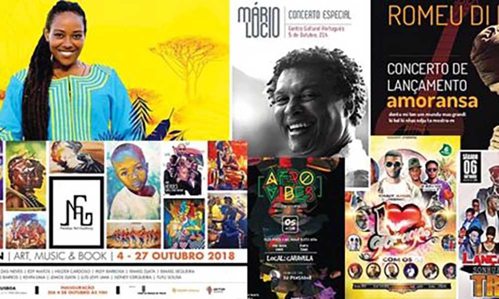 Agenda cultural de 05 a 11 de Outubro de 2018