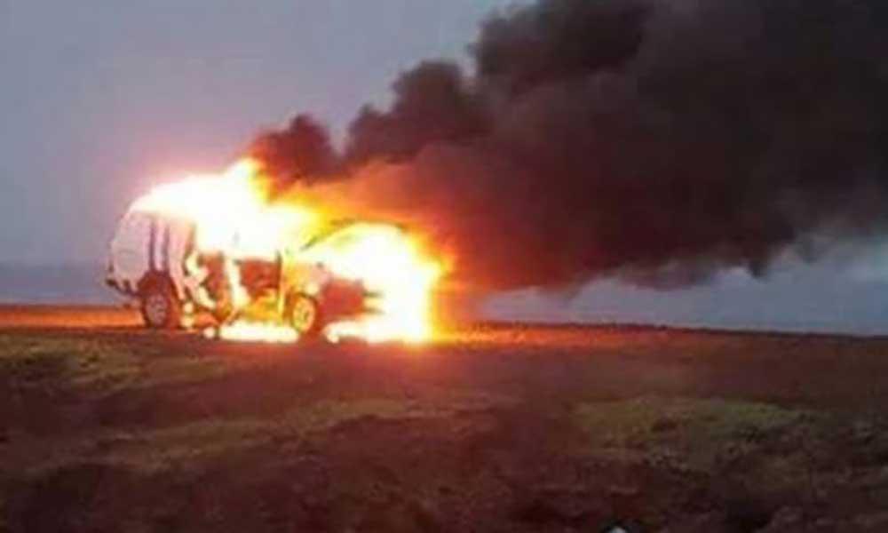 """Praia: Incêndio de viatura da PN no farol foi """"espontâneo"""""""